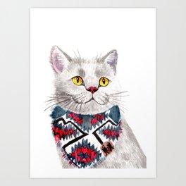 Goji the British Shorthair Art Print