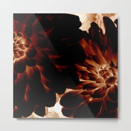 Dark Flowers Metal Print