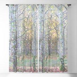 Whispering Woods Sheer Curtain