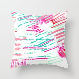 Pastel Lines Throw Pillow
