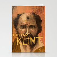 gustav klimt Stationery Cards featuring 50 Artists: Gustav Klimt by Chad Beroth