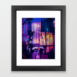 Tokyo Nights / Valentines Day / Liam Wong Framed Art Print