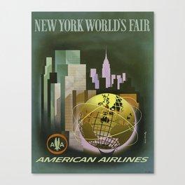 Vintage Poster New York Worlds Fair1 Canvas Print