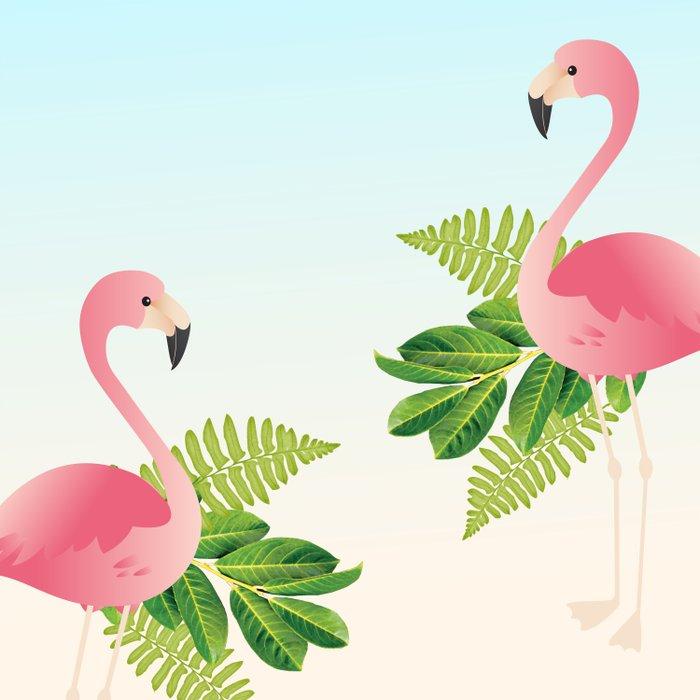 Tropical Flamingos Comforters