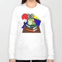 bookworm Long Sleeve T-shirts featuring Bookworm 2 by Charles Oliver