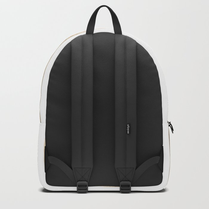 Simply Drawn Vertical Stripes in White Gold Sands Backpack