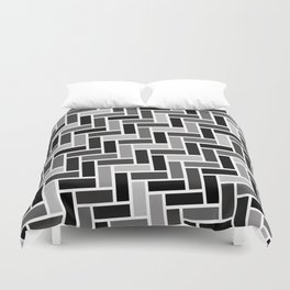 Monochrome Paving Duvet Cover
