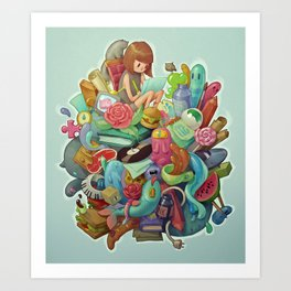 Creative Pile Art Print