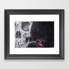 On Death and Dying Framed Art Print