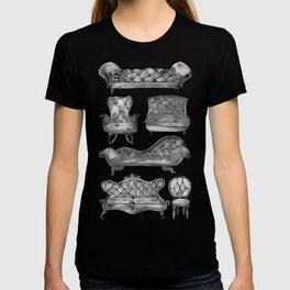 Victorian Lounge – Black Palette T-shirt