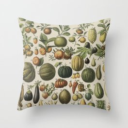 Mostly Fruits Throw Pillow