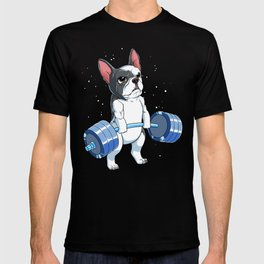 This Fitness Dog design is the perfect gift for Gym and French Bulldog lovers who loves workout T-shirt
