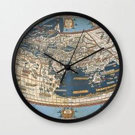 World map 1492 Wall Clock
