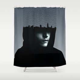 Mr Robot Typography Shower Curtain