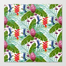 Hummingbird in the Rainforest Canvas Print