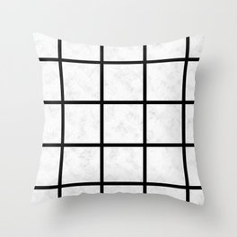 marble grid Throw Pillow