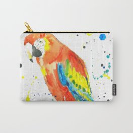 Parrot (Scarlet Macaw) - Watercolor Painting Print Carry-All Pouch