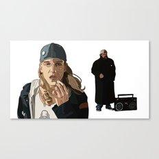 Jay and Silent Bob, Clerks 2 Canvas Print