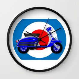 60s Scooter and UK Symbol Wall Clock