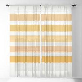 Sunburst Art Print Sheer Curtain