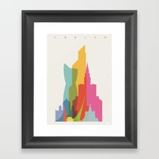 Shapes of Moscow Framed Art Print