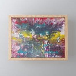 Abstract Red Fluid Art Framed Mini Art Print