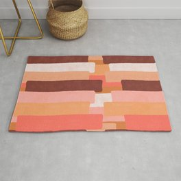 Line In Coral #society6 #abstractart Rug