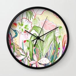 musical flora Wall Clock