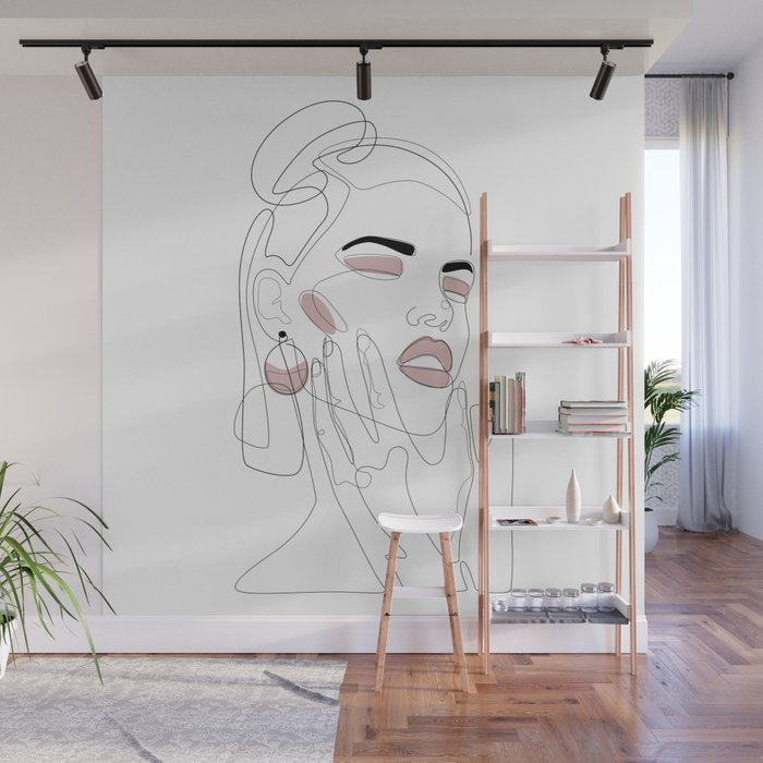 Blush Splash Wall Mural