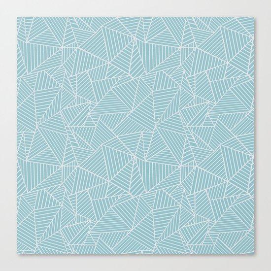 Ab Lines Salt Water Canvas Print