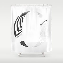 """Tao """"Letter O"""" Shower Curtain"""