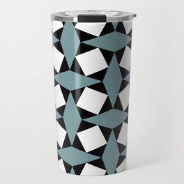 Geometric Pattern #188 (gray squares) Travel Mug