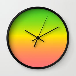 Neon Spring Wall Clock