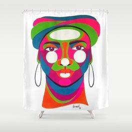 Palenquera es color Shower Curtain
