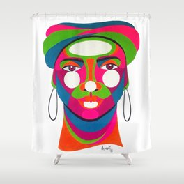 Palenquera es color Shower Curtain