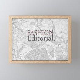 Fashion City: Fashion Editorial Framed Mini Art Print
