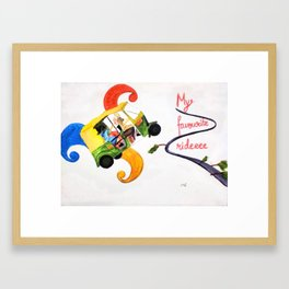 My favourite ridee Framed Art Print