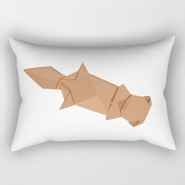 Origami Sea Otter Rectangular Pillow