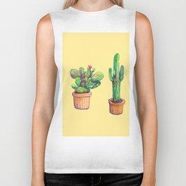 Cactus on Yellow Biker Tank