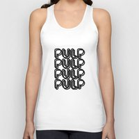 pulp Tank Tops featuring Pulp  by Kate Roark