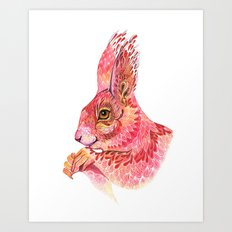 The squirrel magic  Art Print