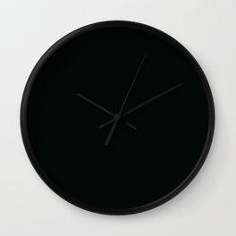 Icy Thunder ~ Inky Teal Wall Clock