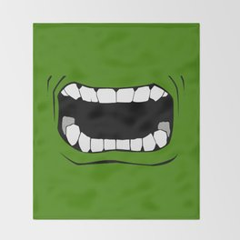 mouth Throw Blanket