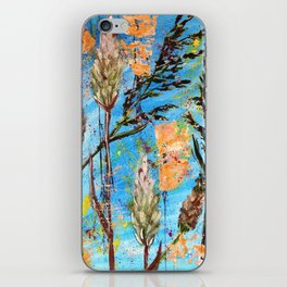 SPRING ADVENTURE - WILD GRASS SEEDS - Original abstract painting by HSIN LIN / HSIN LIN ART iPhone Skin