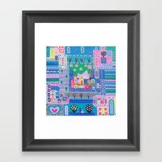 Labyrinth Of Love Framed Art Print