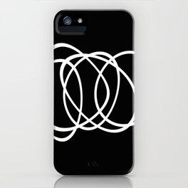 Mid Century Black And White Minimalist Design iPhone Case