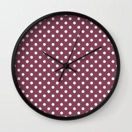 White Polkadot on Juneberry Wall Clock