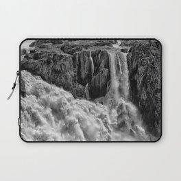 Black and White Beautiful Waterfall Laptop Sleeve