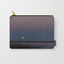 Supermoon rising into a twilight sky Carry-All Pouch