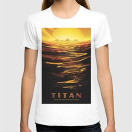 NASA Retro Space Travel Poster #12 - Titan T-shirt